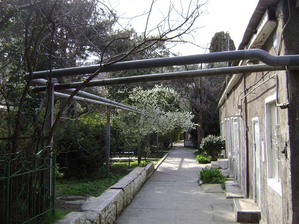 Один из вариантов курортного отдыха вашей семьи в Ялте, снимок - конец марта 2009 г.