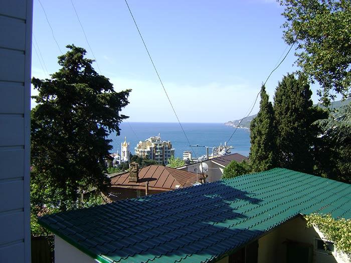 Оба балкона квартиры видовые - панорамный вид на море, Ялту