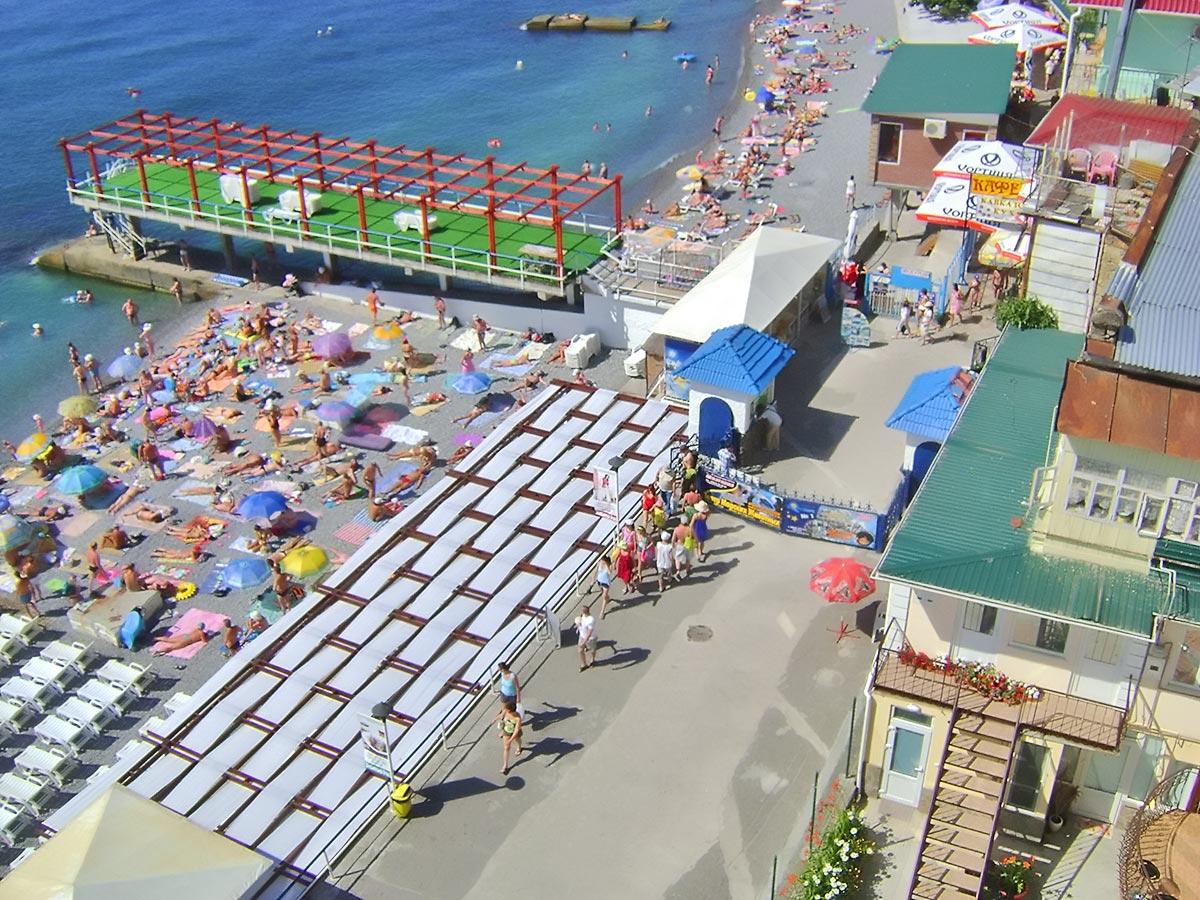 Массандровский пляж, посещение бесплатно - июль 2009