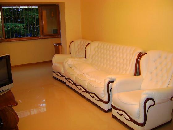 Вся мебель деревянная отделанная кожей